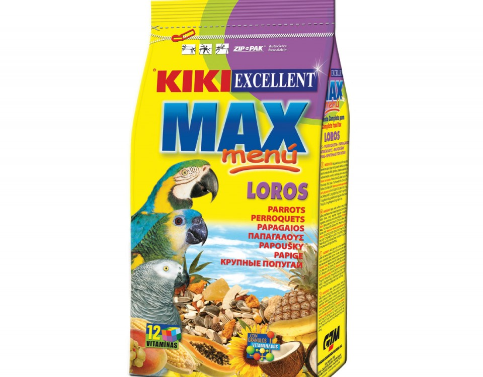 فروش غذای طوطی کی کی (Kiki Excellent Max Menu Food For Parrots)